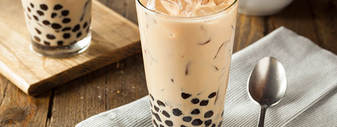 Bubble tea, a drink invented in Taiwan.