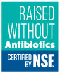 NSF Rasied Without Antibiotics Mark