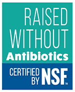 NSF Raised Without Antibiotics Mark