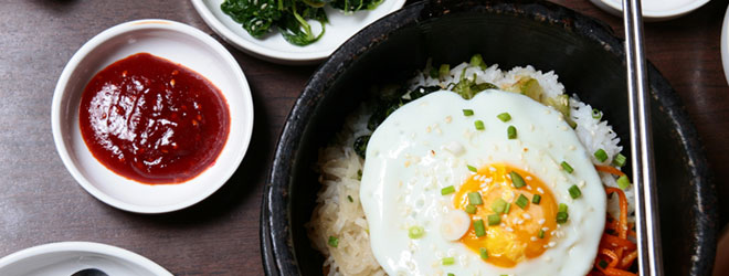 Korean food on table. QAI certifies organic products under the U.S. – Korea Equivalency Arrangement.